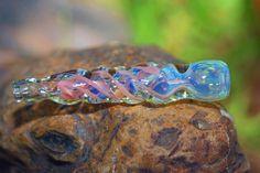 Peach Swirl glass chillum pipe   Namaste1 - Accessories on ArtFire. **mystyle * *