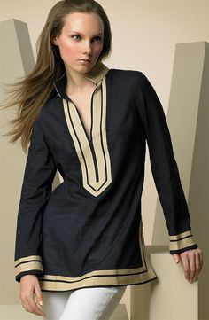 Moroccan Bohemian Tunic with gold emroidery  One of our new collection tunics.  Create a signature look with this Moroccan Bohemian style tunic