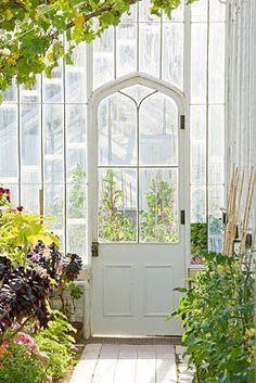 love that door #conservatorygreenhouse