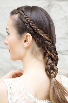 3 Ways To Style Summer's Hottest 'Do #refinery29  http://www.refinery29.com/braided-styles#slide1  The Upgraded Ponytail   These twisted tresses might look complicated, but you'll be on the beach after just a few easy steps.   Model: Alexandra Baben of Ford Models.