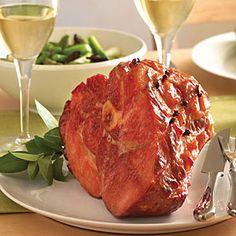 Classic Baked Ham with Maple-Mustard Glaze   MyRecipes.com