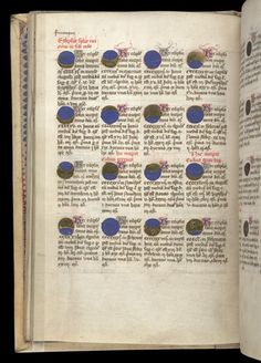 Royal 2 B VIII   f. 12v   Table of eclipses