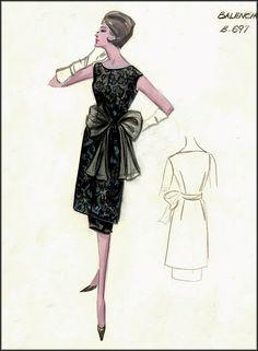 Vintage Haute Couture sketches