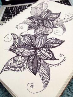 Doodle. Art. Sharpie drawing. By Maryana Kostyuk.