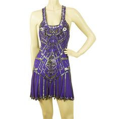 Jenny Packham X- Back U front purple embellished sequined super mini dress 8 UK With its sexy X style exposed back, deep U neck front, striking color and a huge array of sequins and various embellishments, this amazing outfit will get all eyes on you on Sequin Cocktail Dress, Sequin Mini Dress, Cocktail Dresses, Cool Outfits, Short Dresses, Clothes For Women, Jenny Packham, Sequins, Club