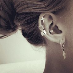cute earrings, piercings.