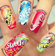 Funny and sweet nails