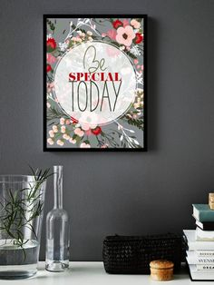 Be Special Today Typography Prints - Retro-style Motivational Wall Decor Poster