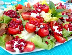 Labneh Tomato and Pomegranate Salad image 1