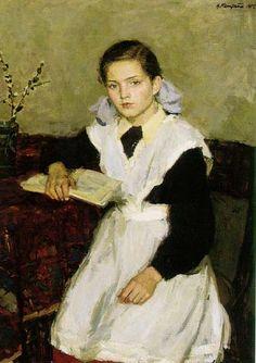 """Ksenia Écolière"", 1955 - Vasili Kirillovich Nechitailo (Russian: 1915-1980)"