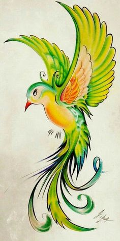 Discover Tattoo and Body Art Original Work Bird Drawings, Pencil Art Drawings, Art Drawings Sketches, Animal Drawings, Cool Drawings, Fabric Painting, Painting & Drawing, Vogel Illustration, Desenho Tattoo