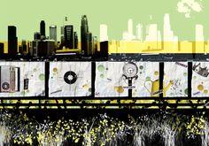 Urban Pop Visions by Aphrodite Ioannou from her illustration portfolios on Dripbook. Aphrodite, Urban, Pop, Digital, City, Illustration, Artwork, Movie Posters, Popular