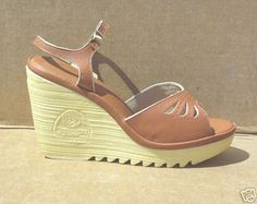 Cherokee Wedge shoes-- I actually recently found a pair of knockoffs from the 80's for $3.50