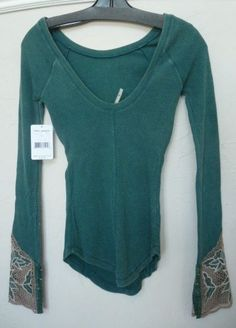 NWT Free People bali babe Cuff Thermal Top shirt #FreePeople #Thermal