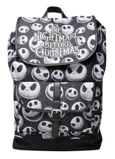 Disney The Nightmare Before Christmas Jack Heads Large Slouch Backpack NWT | eBay