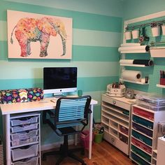 Where it all happens!  Love my creative space😍 #lovecreating #tealelephantcreations #creative #craftroom #etsyshop #etsy #creativejuices #crafting #build #workhard #hubbyisthebest #myspacetealelephantcreations