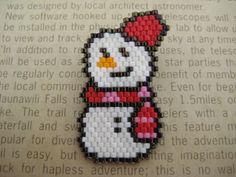 雪だるまさんブローチ♪画像1