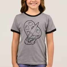 #Creative paint your own Artist's Ringer T-Shirt - #hallmark #gifts