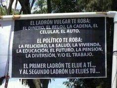 Robos de politicos..