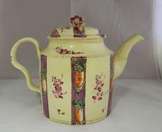 Antique English Creamware Pottery Tea Pot Chintz Pattern C1770   eBay