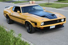 '72 Mustang Mach 1, sporting a custom grille, aero kit and wheels. In other words, what the Mach 1 should have looked like coming off the line.