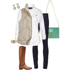Mint and coral, created by kaley-ii on Polyvore