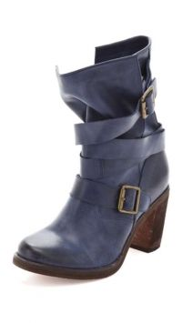 Jeffrey Campbell France Blue Leather Boots $135