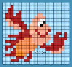 Sebastian - The Little Mermaid Perler Bead Pattern