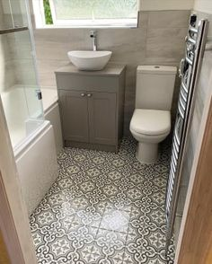 Wickes Melia Sage Patterned Ceramic Wall & Floor Tile 200 x 200mm | Wickes.co.uk Flooring, Tile Floor, Small Bathroom Layout, Living Room Tiles, Patterned Floor Tiles, Tile Installation, Small Kitchen Diner, Tile Floor Living Room, Moroccan Tiles Kitchen