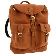 Mulholland Brothers Leather Drawstring Backpack