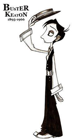 Buster Keaton by TheBalloonMan.deviantart.com on @deviantART