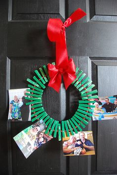 christmas clothespin wreath. about $5 to make. super cute and easy. great gift idea. house of paint.