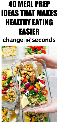 40 Meal Prep Ideas That Makes Healthy Eating Easier! These meal prep recipes are perfect for lunch or dinner! 40 Meal Prep Ideas That Makes Healthy Eating Easier! These meal prep recipes are perfect for lunch or dinner! Healthy Eating Tips, Clean Eating Recipes, Clean Eating Snacks, Healthy Drinks, Lunch Recipes, Healthy Dinner Recipes, Healthy Snacks, Diet Snacks, Diet Meals