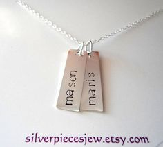 SALE Brag Tags Sterling Silver Necklace by SilverPiecesJewelery, $25.00