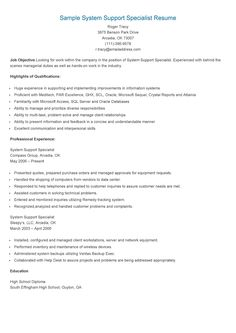 sample operations support specialist resume resame pinterest