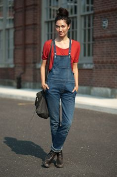 autumn fever: love this outfit even if I would be too afraid to rock the overalls in public