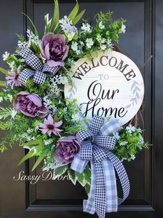 Find the perfect wreath for your door @ SassyDoors. This design is offered in a . Diy Spring Wreath, Summer Door Wreaths, Easter Wreaths, Holiday Wreaths, Holiday Decor, Wreath Crafts, Diy Wreath, Wreath Hanger, Welcome Wreath
