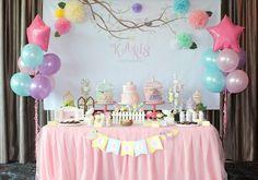 Pastel Bird Birthday Dessert Table via Kara's Party Ideas | KarasPartyIdeas.com