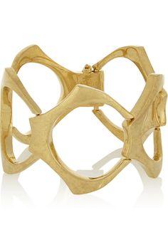 Alexander McQueen|Gold-plated bracelet|NET-A-PORTER.COM