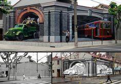 MICHAEL QI: Es otro artistas callejero con sede en Beijing Qi Xinghua (China) con creaciones anamórficas ópticas tridimensionales.