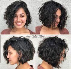 Curly Hair Bob Haircut, Short Layered Haircuts, Haircuts For Curly Hair, Curly Hair Cuts, Short Curly Hair, Curled Hairstyles, Wavy Hair, Short Hair Cuts, Short Hair Styles