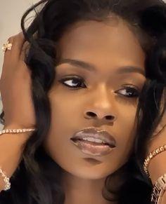 A beautiful face and sweet; Beautiful Black Girl, Pretty Black Girls, Beautiful Heels, Dark Skin Beauty, Hair Beauty, Black Beauty, Brown Skin Girls, Black Girl Aesthetic, Black Barbie