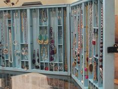 Eco-friendly Recycling diy crafts ~ Jewelry Craft Show Display