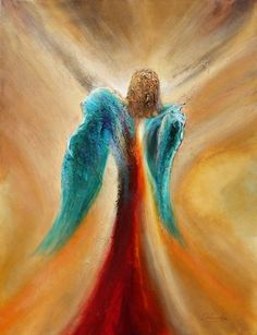 Angel Artwork, I Believe In Angels, Angels Among Us, Angel Pictures, Guardian Angels, Art Plastique, Oeuvre D'art, Painting Inspiration, Painting & Drawing