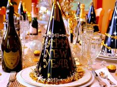 Our table is set for New Year's Eve, come see & get some ideas! NoblePig.com