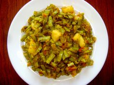 Gawar Sabzi with Aloo - Cluster Beans sabzi - Maharashtrian Gawar Sabzi, which is very delicious Maharashtrian recipe many people like this dish, Especially Maharashtrian people prefer to, have in lunch or dinner time. This dish Maharashtrian people enjoy with friends and family in all seasons.