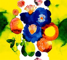 I Love Merimekko!! A colorful Merimekko oil cloth.