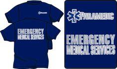 PARAMEDIC EMERGENCY MEDICAL SERVICES COTTON T-SHIRTS WITH REFLECTIVE IMPRINT #Gildan #ShortSleeve