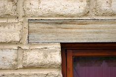 Brick wall w woof lintel