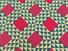 ON SALE Stunning Never Used PA Antique c1880 Irish Chain QUILT Vibrant Colors! www.Vintageblessings.com
